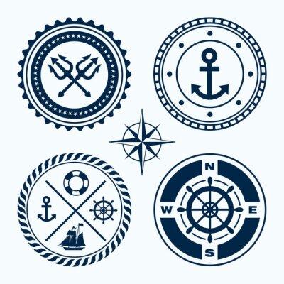 Väggdekor nautiska emblem