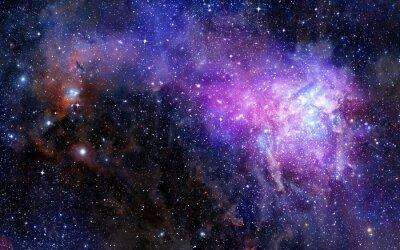 Väggdekor nebulosa gasmoln i djupa rymden