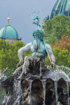 Väggdekor Neptune Fountain och Berlin-katedralen, Berlin