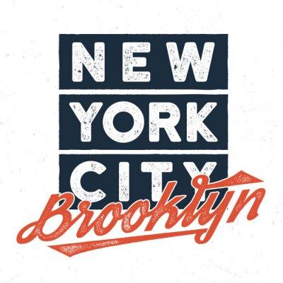Väggdekor New York City Brooklyn - Utslagsdesign för utskrift