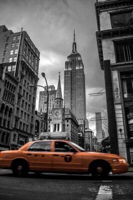 Väggdekor New York City gata i kväll