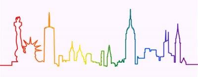 Väggdekor New York City Gay-Friendly Skyline Profile