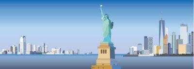 Väggdekor New York City Silhouette