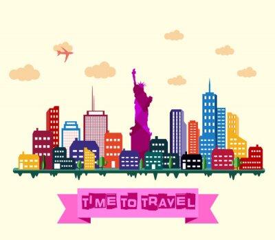 Väggdekor New York City skyline