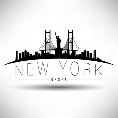 Väggdekor New York City Typografi Design