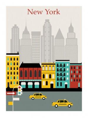 Väggdekor New York city. Vector