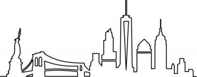 Väggdekor New York Citys horisont