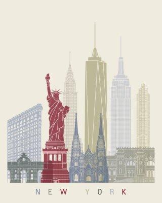 Väggdekor New York horisont affisch