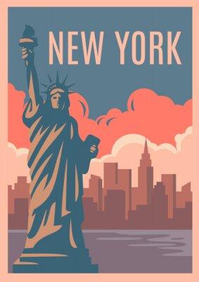 Väggdekor New York Retro affisch.