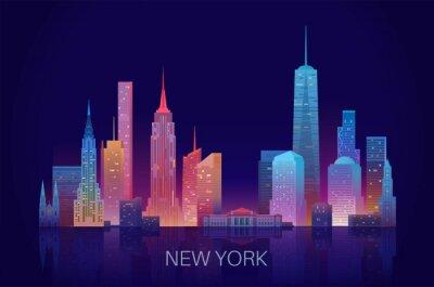 Väggdekor New York skyline