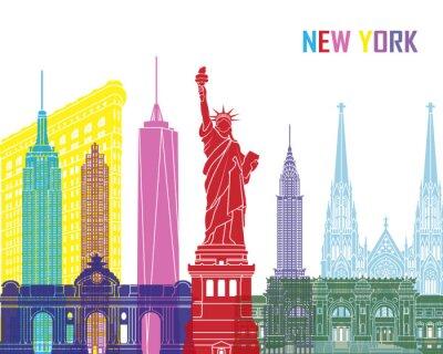Väggdekor New Yorks skyline pop