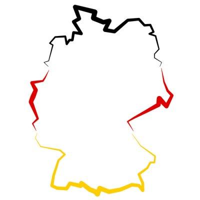 Väggdekor Niemcy - karta