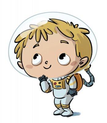 Väggdekor niño astronauta