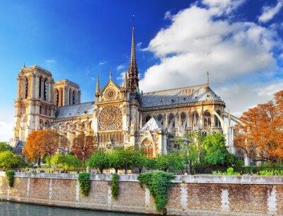 Väggdekor Notre Dame de Paris Cathedral.Paris. Frankrike.