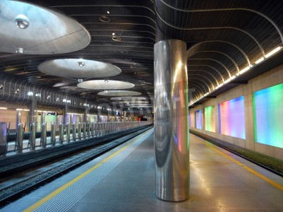 Väggdekor Nya tågstationen - Auckland arkitektur