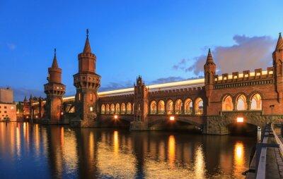 Väggdekor Oberbaumbrücke, Berlin, Tyskland