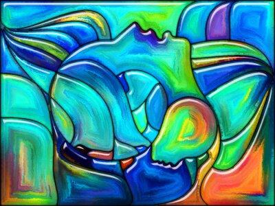 Väggdekor Öde i färg
