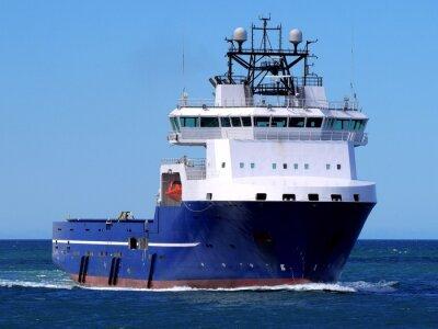 Väggdekor Offshore Supply Ship F, Offshore Supply Vessel pågår till sjöss till havs anläggning.