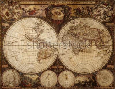 Väggdekor old map
