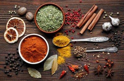 Väggdekor olika kryddor