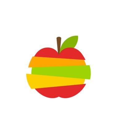 Väggdekor Olika typer av frukt skivor staplade