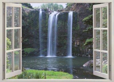 Väggdekor Öppet fönster för att Whangarei Falls, Northland (North Island), Nya Zeeland