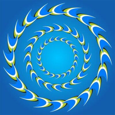 Väggdekor optisk illusion cirkel svansar