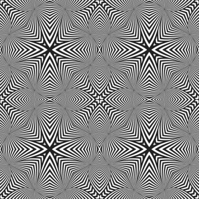 Väggdekor optisk konst abstrakt randig seamless deco mönster.