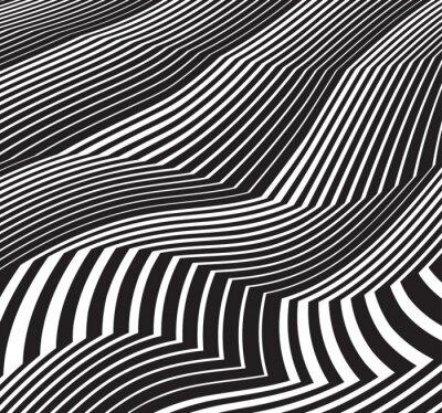 Väggdekor optiska konstbakgrund abstrakt gråskala konstverk svart och vit