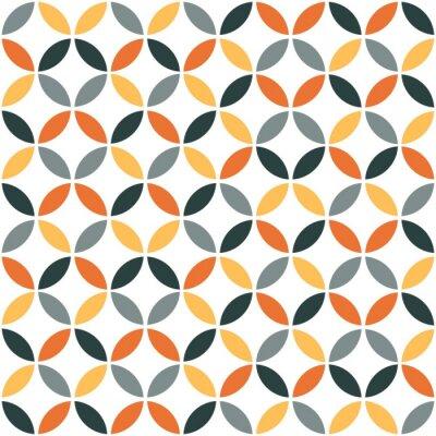Väggdekor Orange geometriska Retro sömlösa mönster