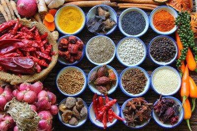 Väggdekor Örter och kryddor.