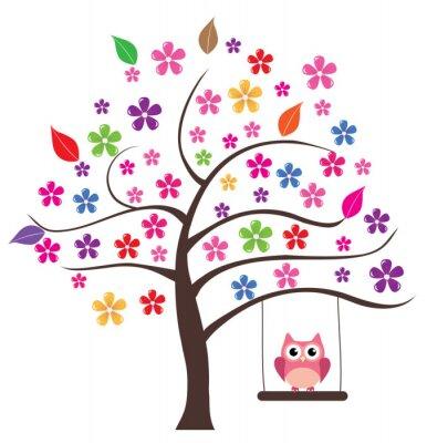 Väggdekor Owl i trädet