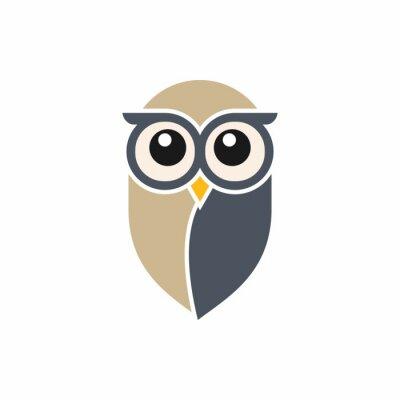 Väggdekor Owl Logotypmall