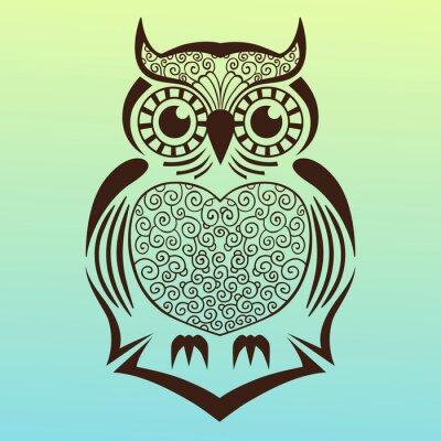 Väggdekor owl.vector illustration.