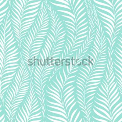 Väggdekor Palmbladmönster. Vektorillustration. Dekorelement