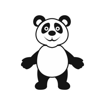 Väggdekor Panda Bear ikon, enkel stil