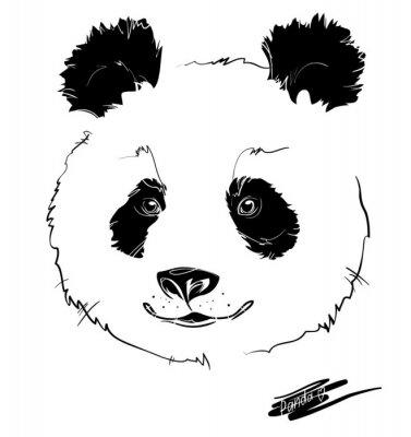 Väggdekor panda huvudet