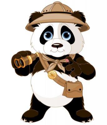 Väggdekor Panda Safari Explorer