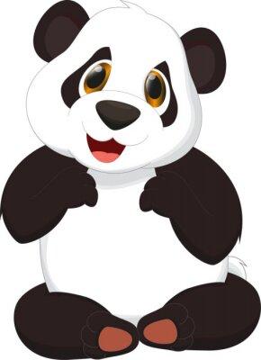 Väggdekor panda tecknad