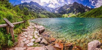 Väggdekor Panorama av damm i mitten av Tatrabergen