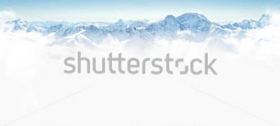 Väggdekor Panorama över vinter bergen med kopia utrymme