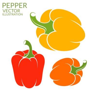 Väggdekor Paprika