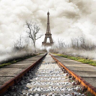 Väggdekor Parigi i treno tappning