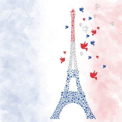 Väggdekor Paris Eiffeltornet