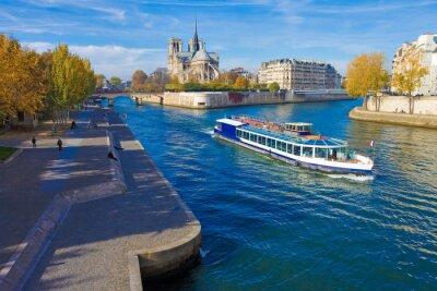 Väggdekor Paris, la Seine et Notre-Dame vu Du Pont de la Tournelle