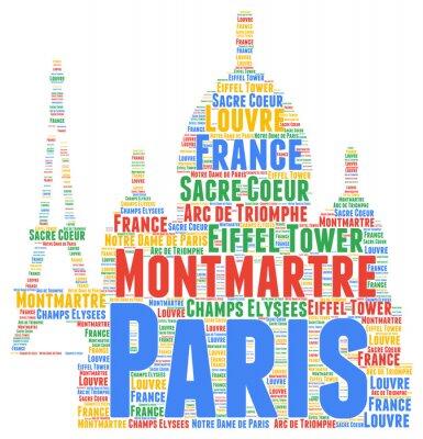 Väggdekor Paris ord moln