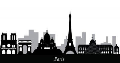 Väggdekor Paris skyline