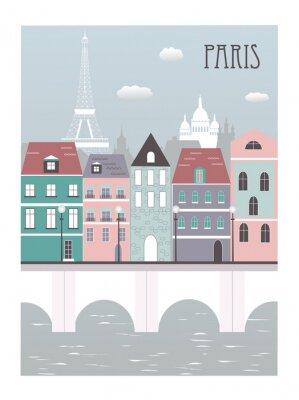 Väggdekor Paris stad.