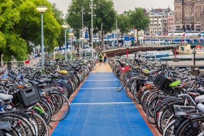 Väggdekor Parkering för cyklar i Amsterdam