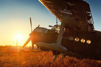 Väggdekor Parkerings retro flygplan